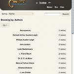 Browse by author screenshot