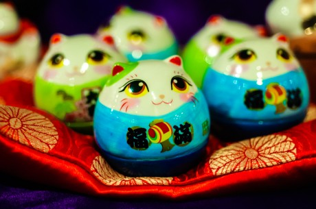 Image of porcelain toy cats